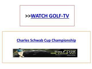 Golf Of Charles Schwab Cup Championship Live Streaming On PC