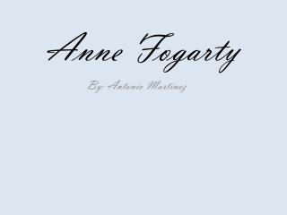 Anne Fogarty