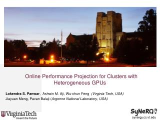 Online Performance Projection for Clusters with Heterogeneous GPUs