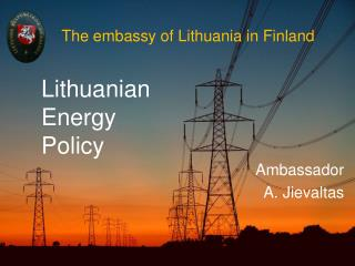 The embassy of Lithuania in Finland