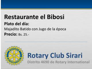 Rotary Club  Sirari Distrito 4690 de Rotary International