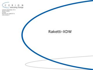 Raketti-XDW