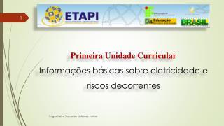 Primeira Unidade Curricular Informações  básicas sobre eletricidade e riscos decorrentes