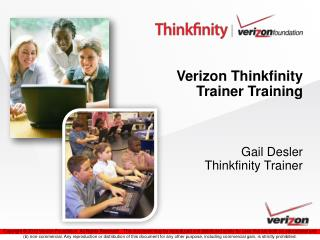 Verizon Thinkfinity  Trainer Training Gail Desler Thinkfinity Trainer