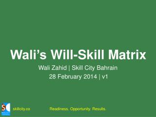 Wali's  Will-Skill  Matrix