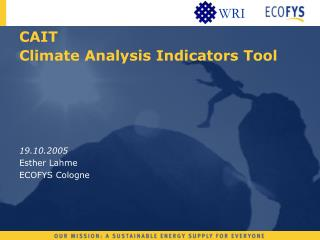 CAIT  Climate Analysis Indicators Tool