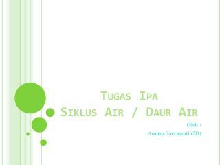 Tugas Ipa Siklus  Air /  Daur  Air