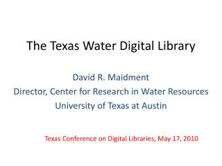 The Texas Water Digital Library