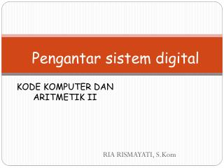 Kode komputer dan aritmetik II