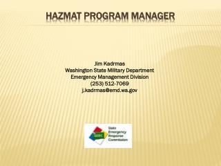 Hazmat program manager