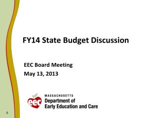 FY14 State Budget Discussion