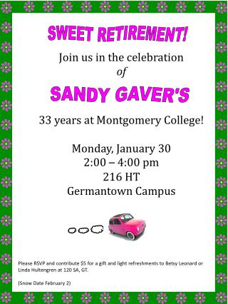 Join us in the celebration of 33 years at Montgomery College! Monday, January 30 2:00  –  4:00 pm