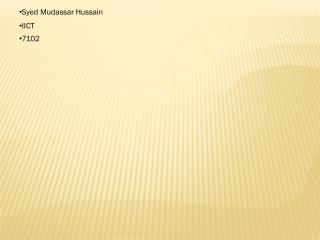Syed Mudassar Hussain