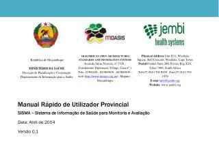 Manual Rápido de Utilizador Provincial