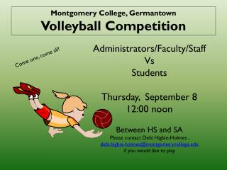 Montgomery College, Germantown Volleyball Competition