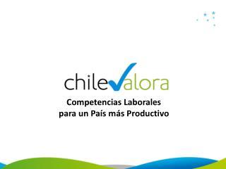 Competencias Laborales  para un País más Productivo