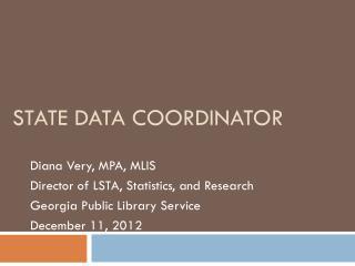 State Data Coordinator