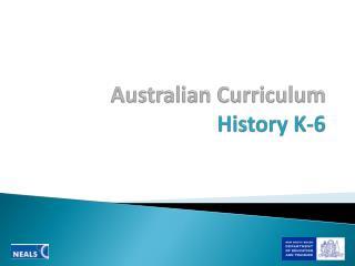 Australian Curriculum  History K-6