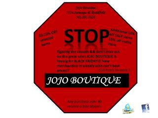 JoJo Boutique 7114 Saratoga & Roddfield 3 61.991.5656