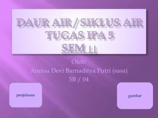 d aur  Air /  Siklus  Air TUGAS IPA 5 SEM  ||