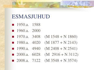 ESMASJUHUD