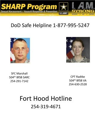 Fort Hood  Hotline 254-319-4671