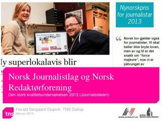 Harald Sørgaard Djupvik, TNS Gallup       februar 2013