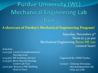 Purdue University (WL) Mechanical Engineering Lab Tour