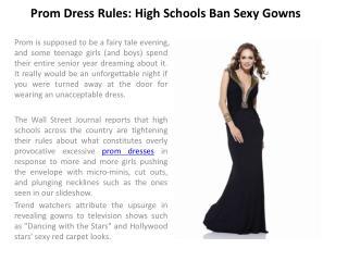 Prom dresses rules