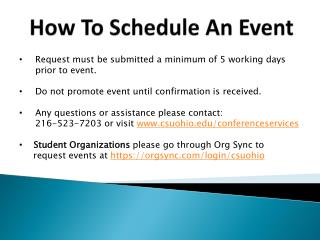 How To Schedule An Event