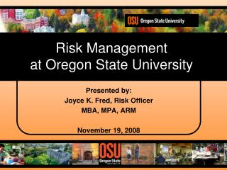 Risk Management at Oregon State University