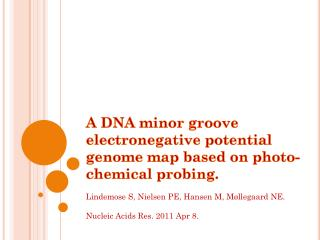 A DNA minor groove electronegative potential genome map based on photo-chemical probing.