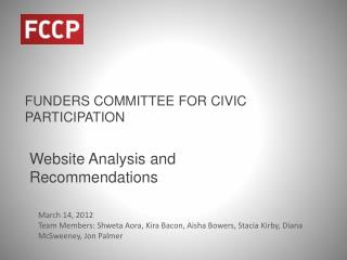 FUNDERS COMMITTEE FOR CIVIC PARTICIPATION