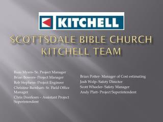 Scottsdale Bible Church Kitchell Team