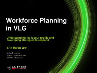 Understanding the labour profile and developing strategies to respond 17th March 2011