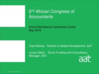 2 nd  African Congress of Accountants