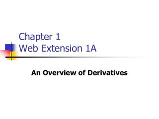 Chapter 1 Web Extension 1A