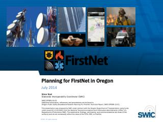 Planning for FirstNet in Oregon