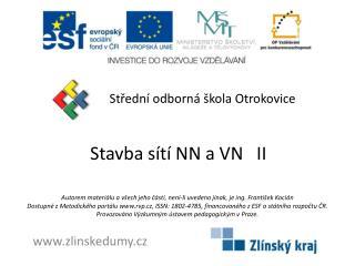 Stavba sítí NN a VN   II