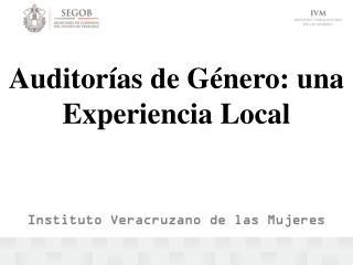 Auditorías de Género: una Experiencia Local