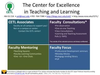 CETL information slide
