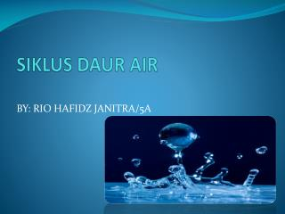 SIKLUS DAUR AIR