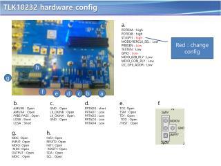 TLK10232 hardware  config