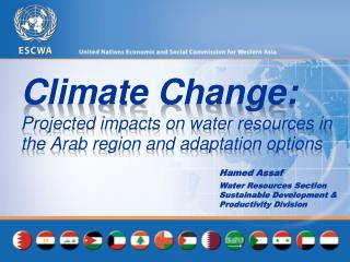 Climate Change:  Projected impacts on water resources in the Arab region and adaptation options