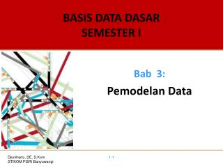 BASIS DATA DASAR SEMESTER I