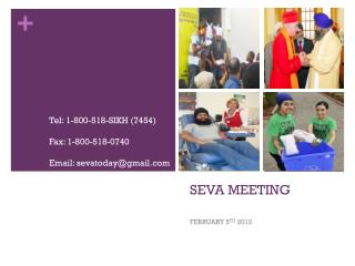 SEVA MEETING