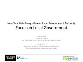 New York State Energy Research and Development Authority  Focus on Local Government