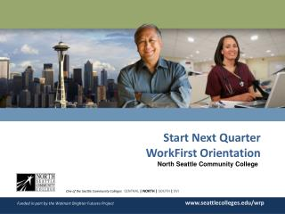 Start Next Quarter WorkFirst Orientation