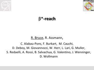 β * -reach R. Bruce , R.  Assmann ,