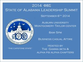 2014   FBS State  of Alabama Leadership Summit